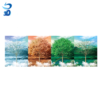Lenticular Poster of Beautiful Landscape 3d flip Scenery picture four season picture