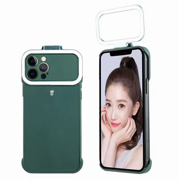 New Fill Light Selfie Phone Case For iPhone 12/12Pro/12 Pro Max 5-Level Beauty Selfie Ring Case LED Flash Light Protective Cover