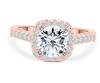10;Rose Gold;square diamond ring