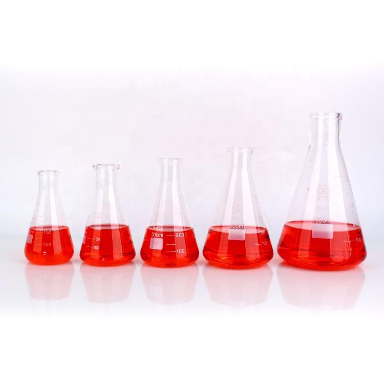 Lab conical borosilicate glass graduations flask 5ml 10ml 25ml 50ml 100ml 200ml 300ml 500ml 1000ml