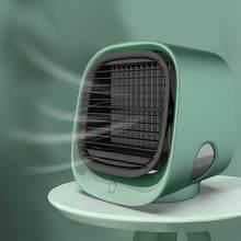 Портативный 4 в 1 Мини USB кондиционер воздушный охладитель Вентилятор очиститель увлажнитель Настольный охлаждающий вентилятор 3 скорости д...(Китай)