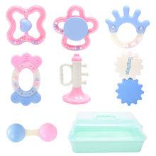 10 штук в штучной упаковке детская молярная мягкая резиновая погремушка Игрушки для мальчиков Детский зуб развитие силикон для жевания игру...(Китай)