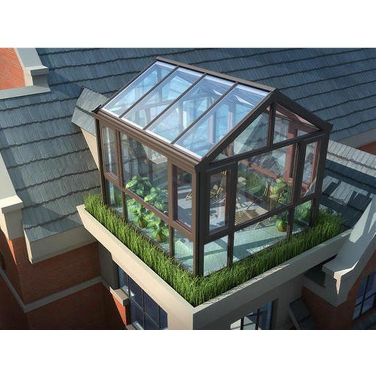 Balcony Roof Prefabricated Thermal Break Insulated Sunroom Glass Room Green House Design