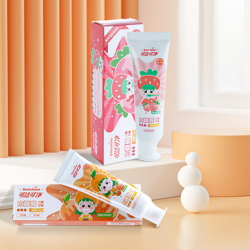 Детская зубная паста хорошего качества, без сахара, с ароматом клубники и мороженого