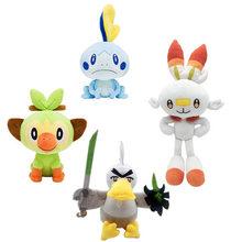Новая плюшевая игрушка Sobble Scorbunny Grookey Sirfetch 'd, игрушка pokemones, щита, мягкие плюшевые игрушки, рождественский подарок для детей, друга(Китай)