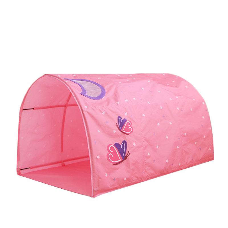 Розовая Принцесса персиковая кожа ткань практичный профессиональный детский замок Игровая палатка игрушки детская палатка кровать для детей