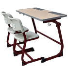 Good Quality Two Seater Child Study Table and Chair Set for High School