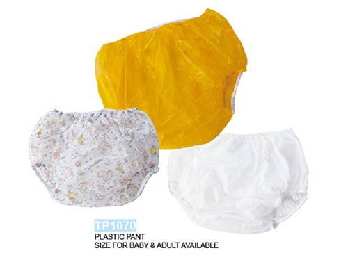Plastic diapers pants and Exposed in