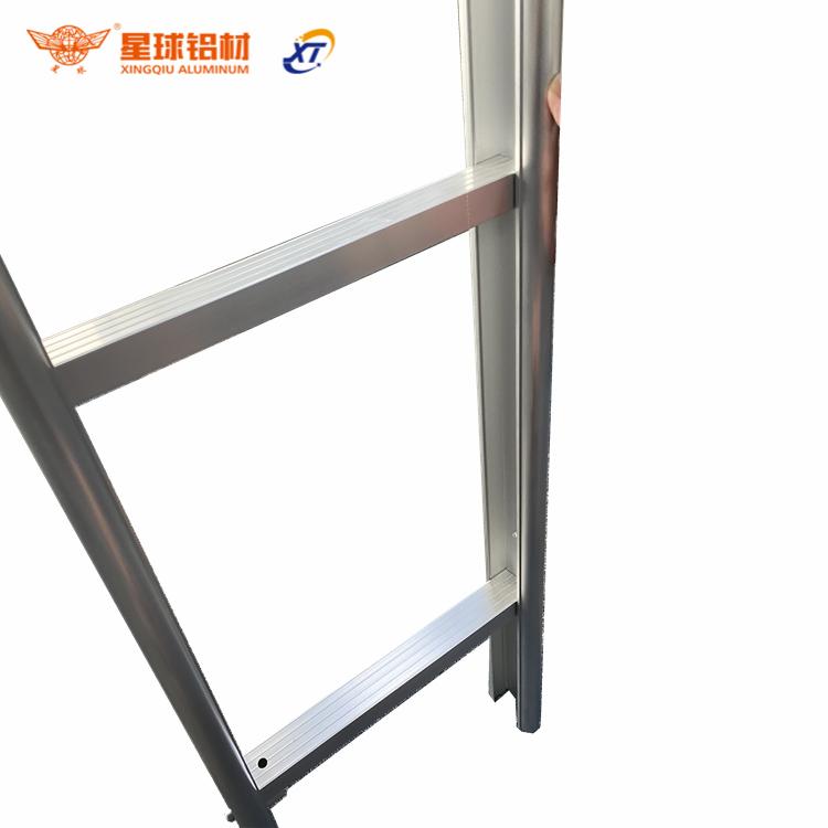 Компактная алюминиевая складная и портативная легкая ступенчатая складная лестница