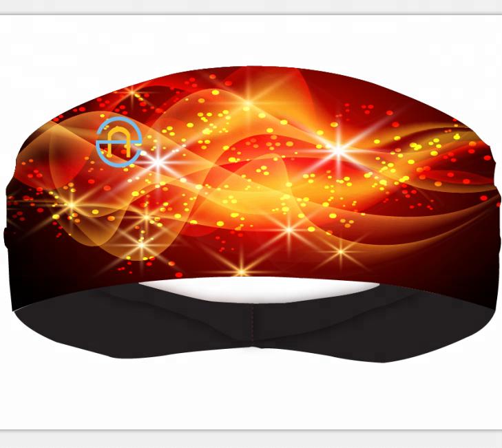 Оптовая продажа, дизайнерские дышащие быстросохнущие мягкие удобные спортивные повязки на голову для йоги