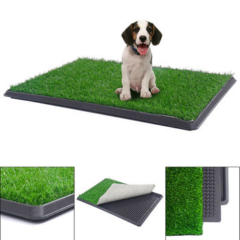 PVC Pet Pee Grass Mats For Dogs Outdoor Potty Portable Training Pad Dog Toilet Mat Grass Artificial