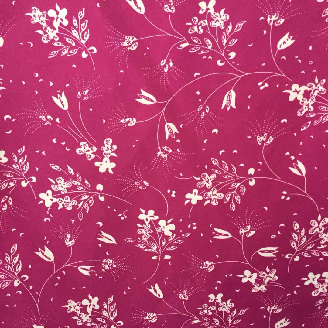 100% полиэстер шифон Печатный тканый цветок на заказ цифровой печатный полиэстер ткань
