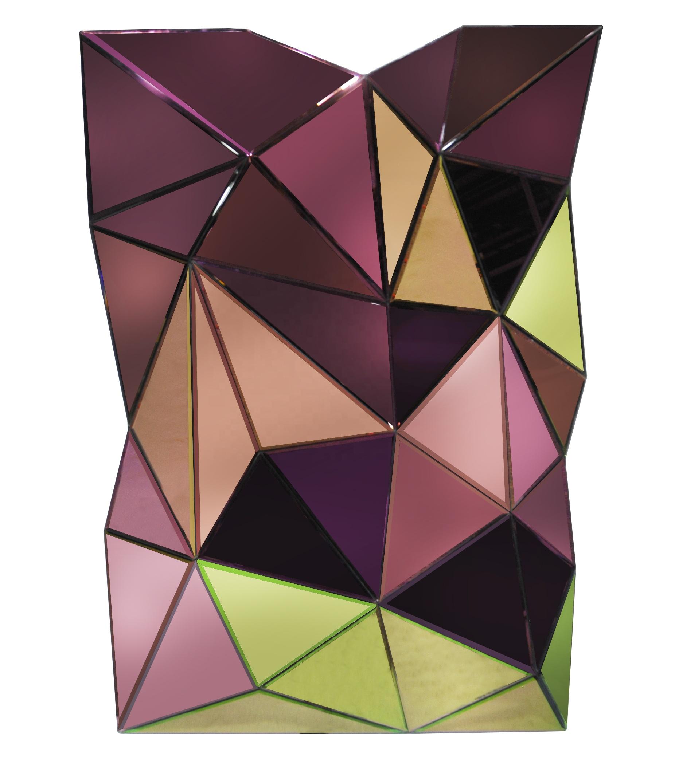 Современная роскошная популярная модная прозрачная зеркальная мебель ручной работы консоль барный стол для гостиной