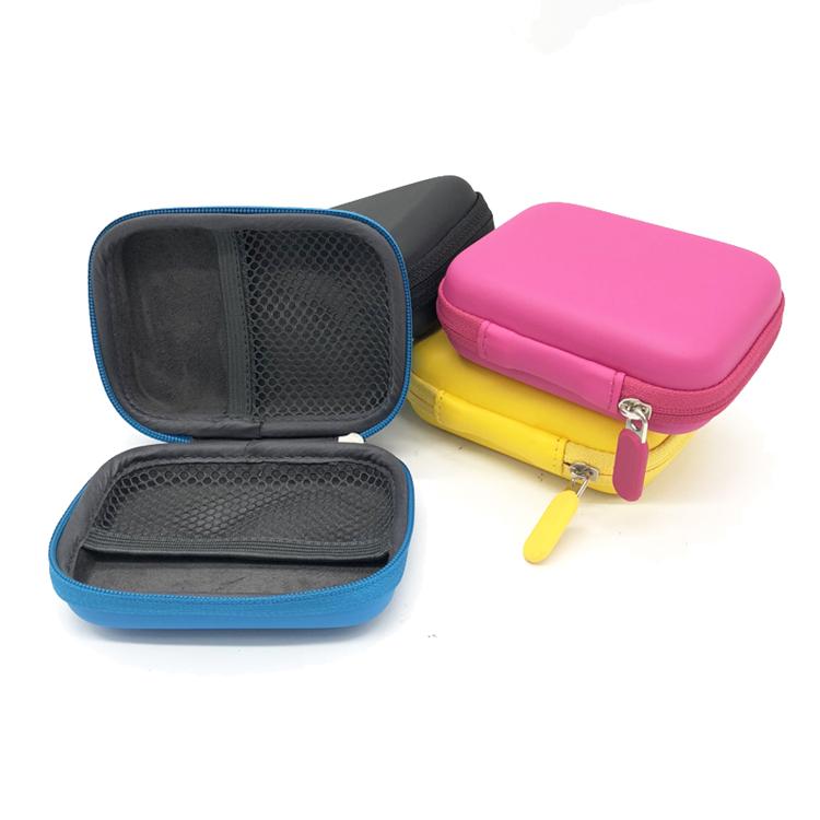 Various Styles Colorful Cute Square Earphone Case EVA Earphone Protective Case