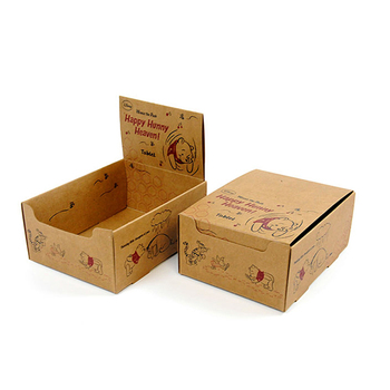 Custom Kraft Paper Snacks Collection Display Box Counter Top Cardboard Display Boxes Printed Foldable Cardboard