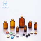 5ml,7ml,8ml,10ml,15ml,20ml,30ml,50ml,100ml Amber Clear sterile injection molded glass vials with rubber stopper