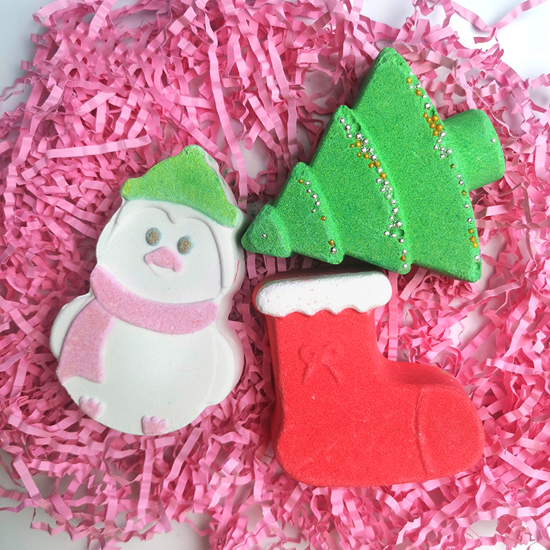 Private Label Christmas Bath Bombs Holiday Gifts Foot Soak Bath Bath Salt Ball