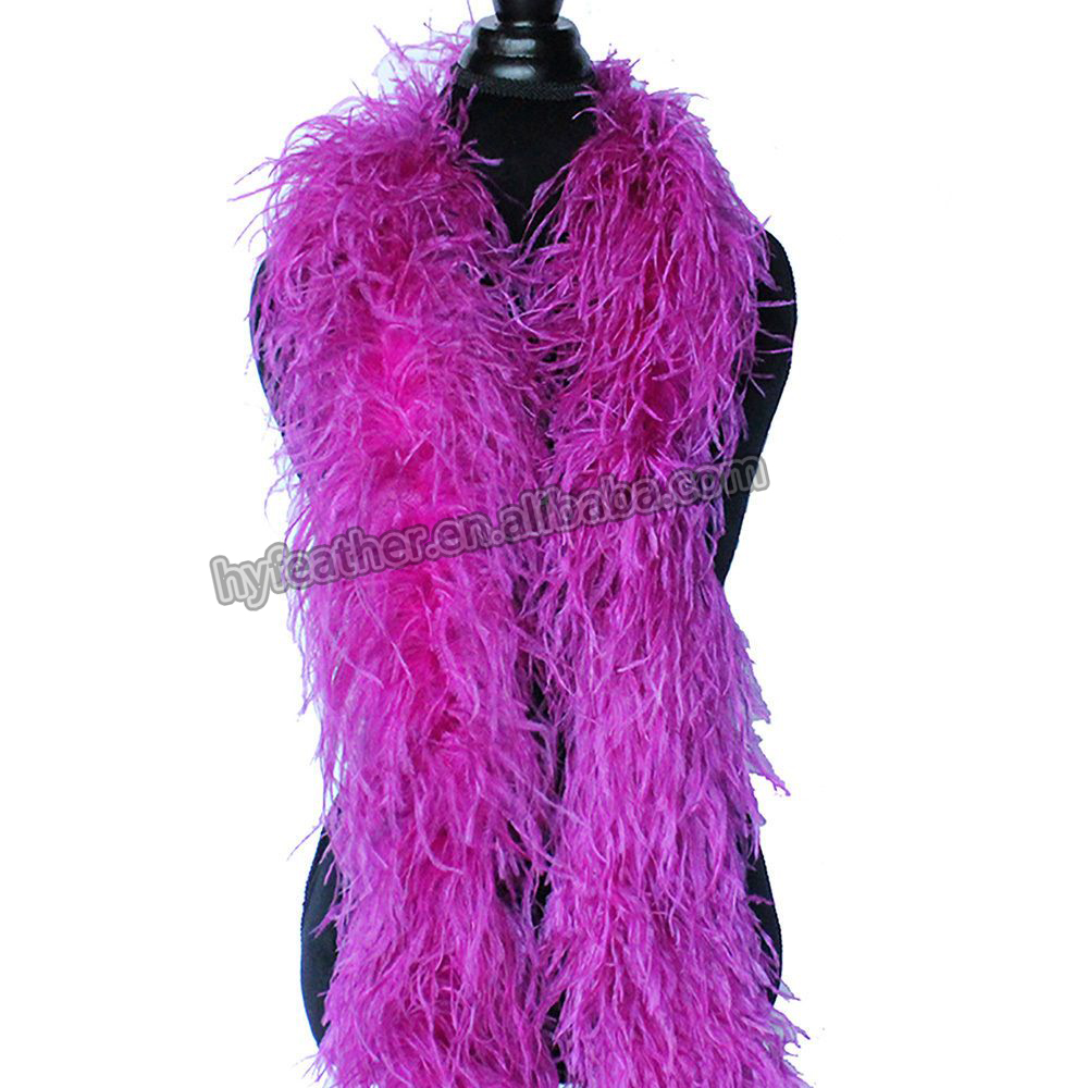 Оптовая продажа, 6 крашеных разноцветных волнистых 5-слойных страусиных перьев