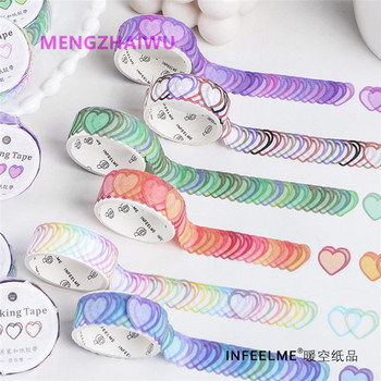 Korean stationery stickers rainbow colored foil decoration washi tape wholesale custom printing blue kamoi masking tape