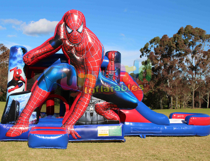 Commercial kids jungle bouncy obstacle water slide combo inflatable bouncer house juegos jumping castle