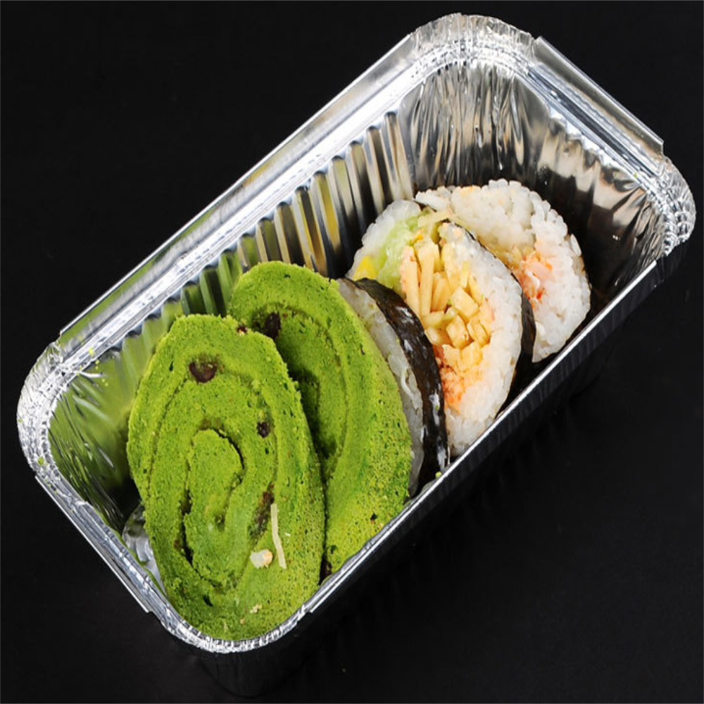 disposable food packaging fast food aluminum tray with plastic lid