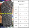Size chart EVA sole
