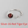 Silver-16 Red Tiger Eye