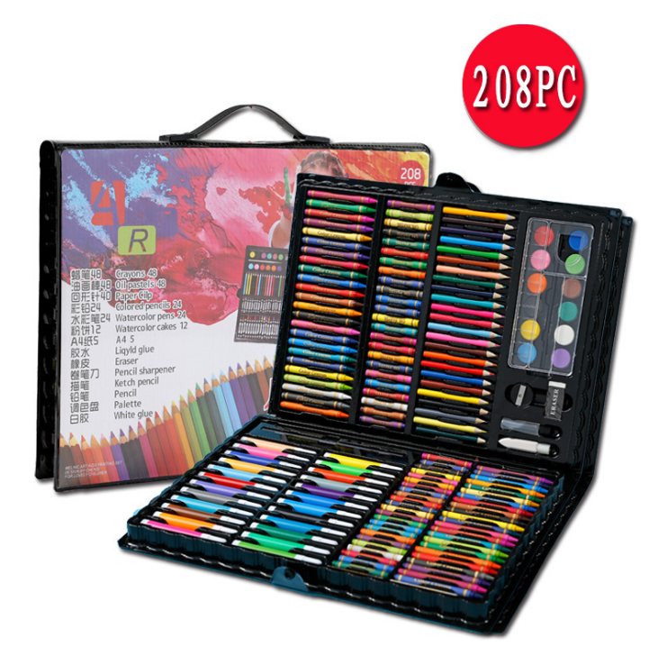 6+ Art Set by Art Creativity Ideal Beginner Artist Kit includes Watercolor, Crayons and More