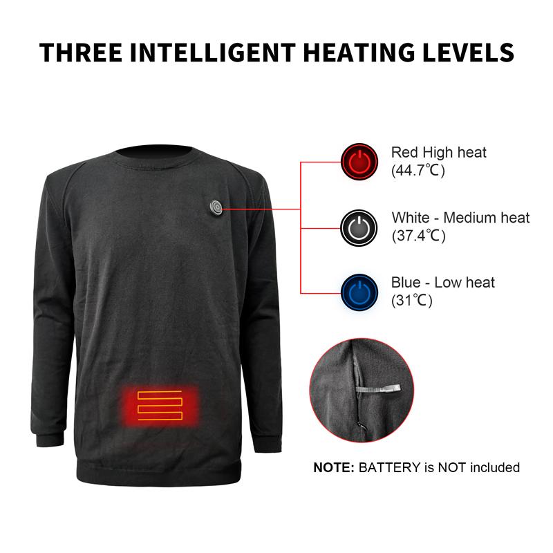 Теплый комплект нижнего белья с подогревом и перезаряжаемой батареей