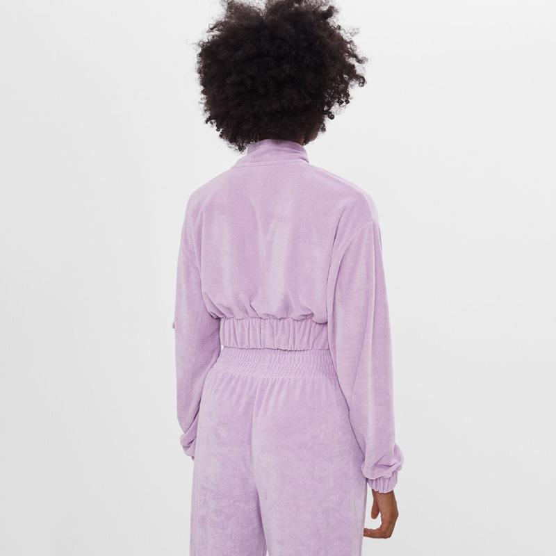 Оптовая продажа, Повседневная Уличная одежда с логотипом на заказ, комплект из двух предметов оверсайз, велюровые спортивные костюмы для женщин