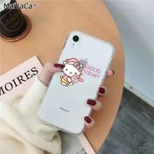 """MaiYaCa милый Hello Kitty силиконовый чехол для телефона из ТПУ с принтом """"для Apple iphone 11 pro 8 7 66S Plus iphone X XS MAX 5S SE XR крышка чехол для мобильного телефона(Китай)"""