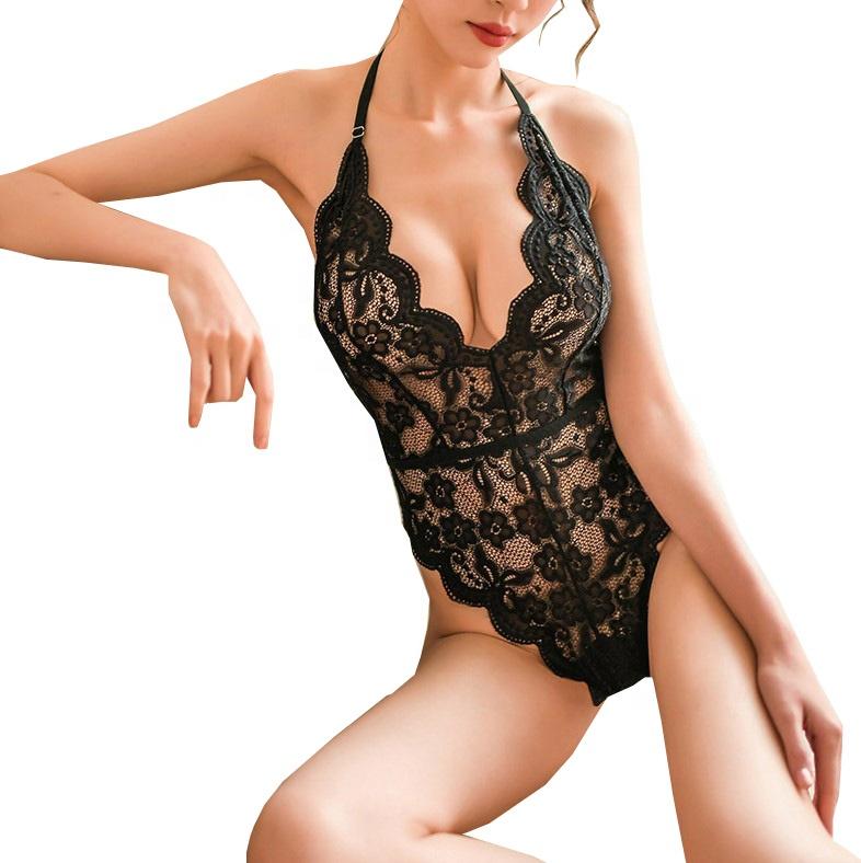 Bustier Nude Nylon Lace Satin