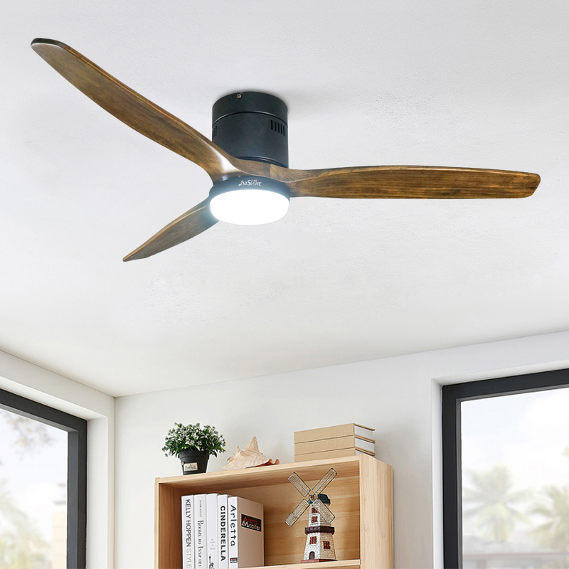 1stshine современный потолочный комнатный вентилятор, декоративный умный пульт дистанционного управления, роскошные деревянные светодиодные потолочные вентиляторы с подсветкой