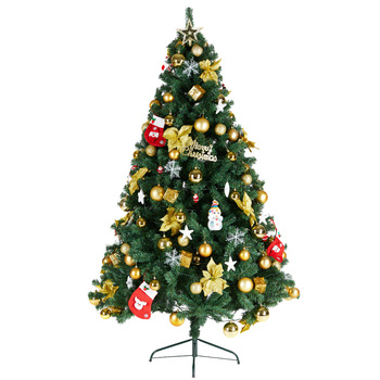 Christmas tree family large 1.8-meter set dinner Christmas decorations small ornaments 1.5-meter encrypted light-emitting set