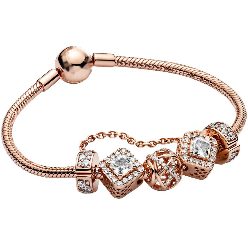 New Rose Gold 925 Silver Charm Bracelets - Buy Charm Bracelet For  Pandora,Silver Bracelets For Pandora,Charms Bracelets Jewelry For Pandora  Product on ...