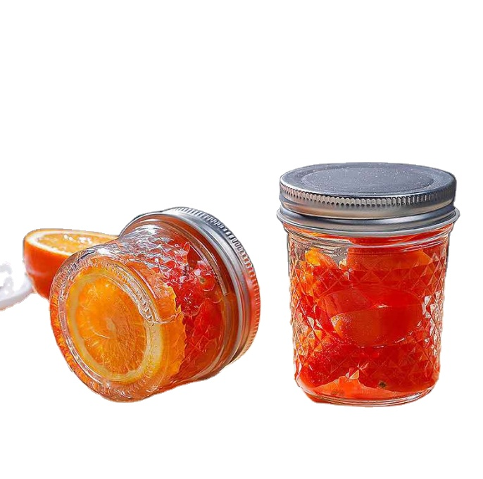 Wholesale 4 oz 8oz Glass Mason Baby Food Jar With Metal/Plastic Lid