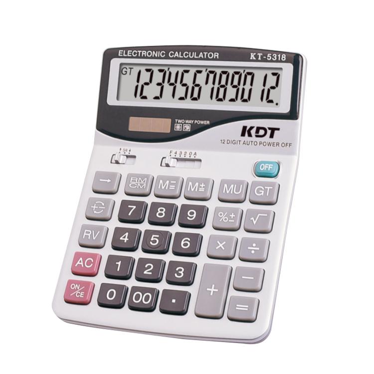 Рекламные высокой плотности Kt-5318 12 цифр двойной мощность большой размер Настольный калькулятор