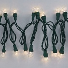 Led String Outdoor Decoration Garden Led Outdoor String Light Christmas Glass Clear Color G15 Wholesale Led Outdoor String Light
