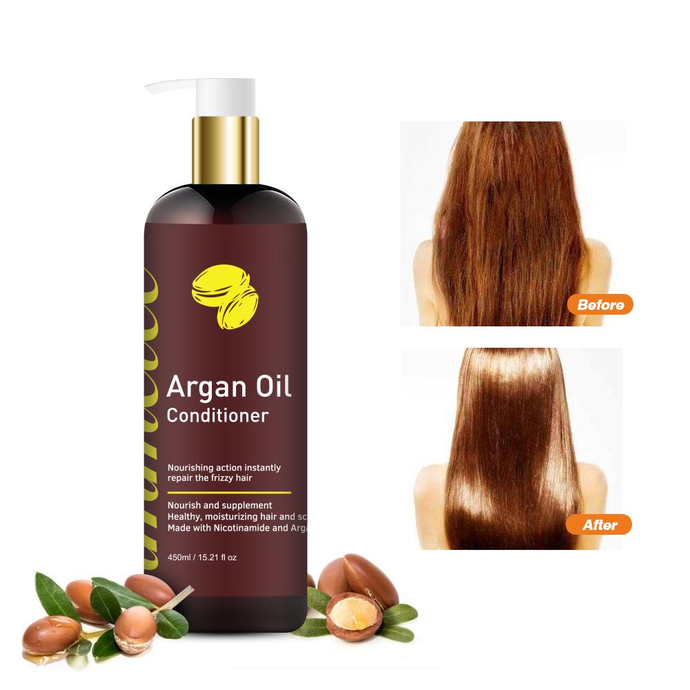 Собственная марка, натуральный травяной Кератиновый шампунь для лечения волос, органическое марокканское аргановое масло, шампунь для волос и Кондиционер