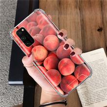 Еда обои персиковый чехол для Huawei Honor 9S 9A 9C 20 8X 20S 20e 9X Pro 10 Lite подушка безопасности анти-осенние ТПУ чехлы для телефонов(Китай)