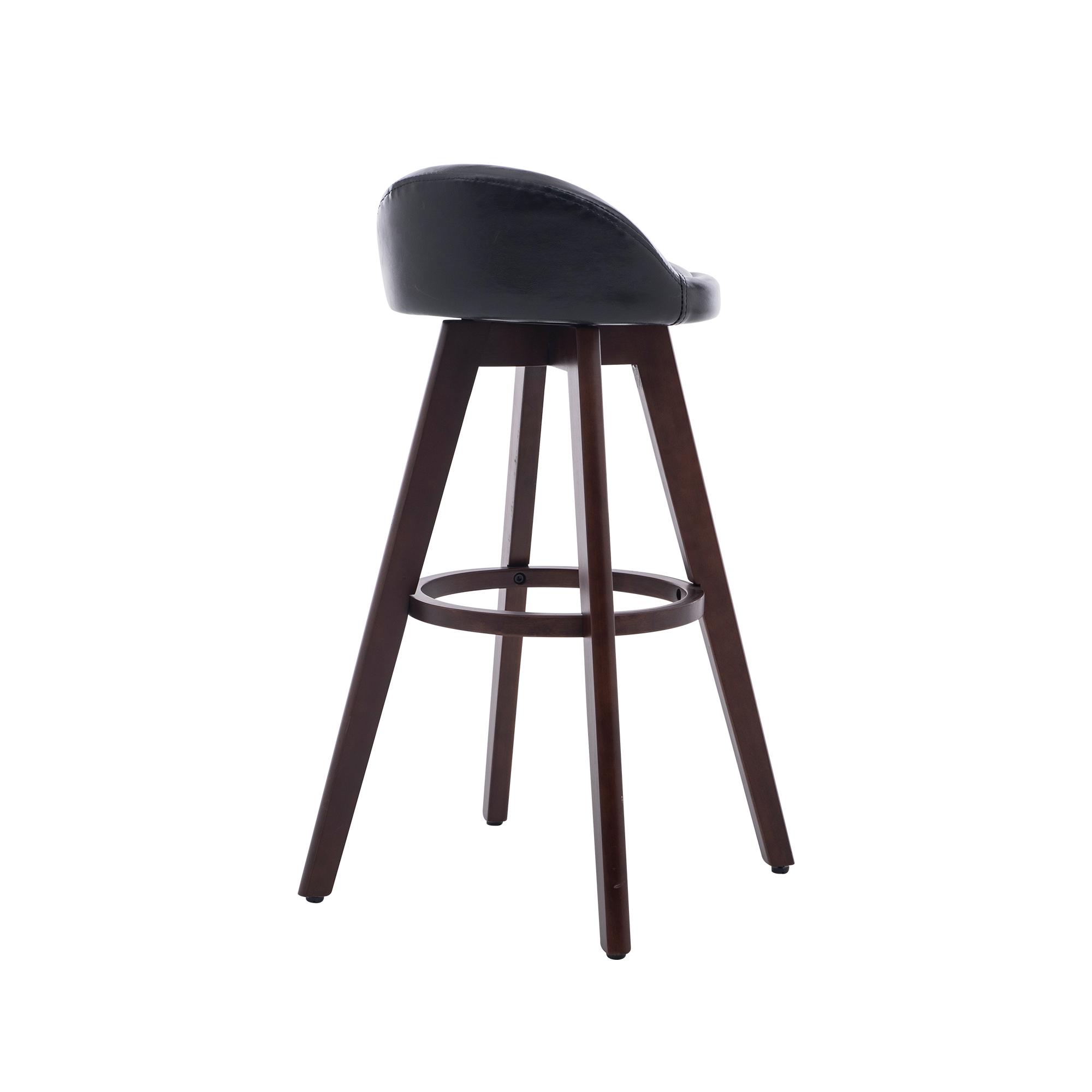 Wholesale Black Modern PU Upholstery Swivel Bar Height Bar Chair