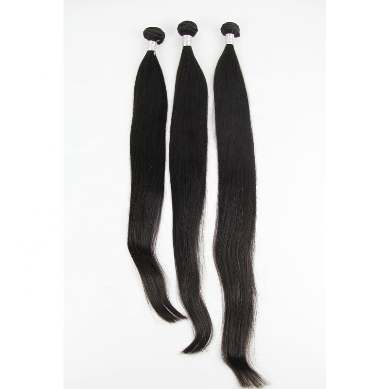 Hot Sale Cambodian Human Hair Weave Bundles No Tangle No Shed Natural Double Drawn Weft Straight Hair 3 Bundles With Closure