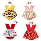 Baby Clothes Floral Romper 2 Piece Baby Set Summer Baby Romper Baby Fashions Clothes Girl