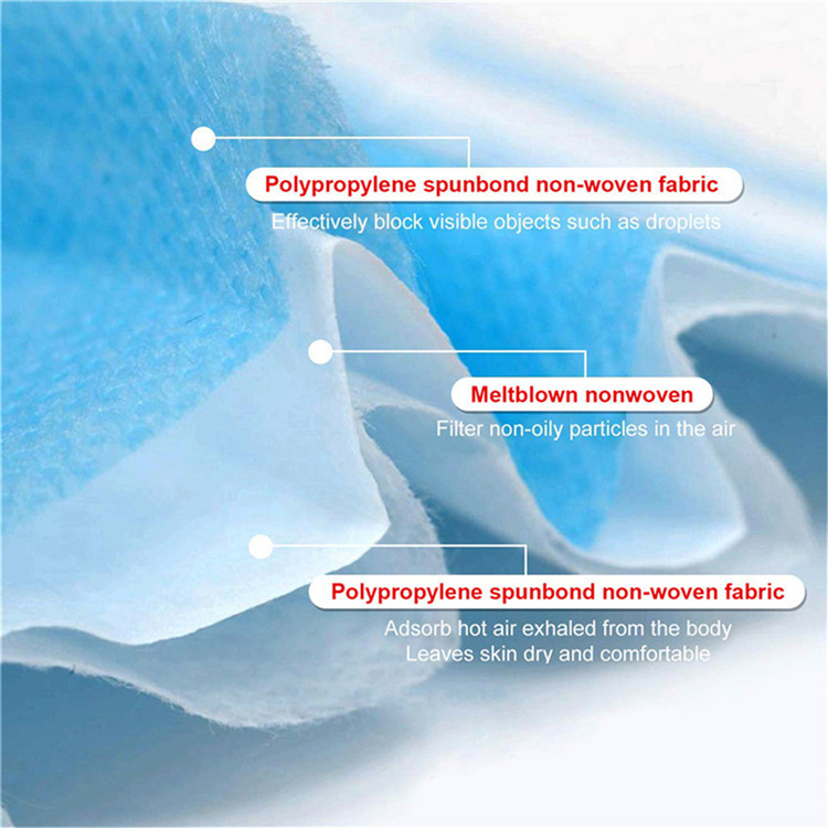 3 layer disposable mask and personal protective mask and dust mask protect air pollution