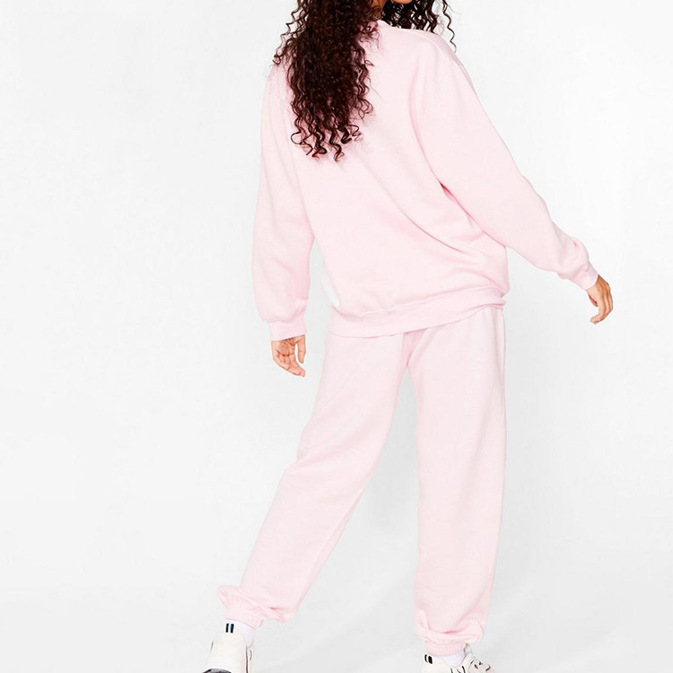 2021 women's tracksuit suits two piece custom logo training women sweatsuit set