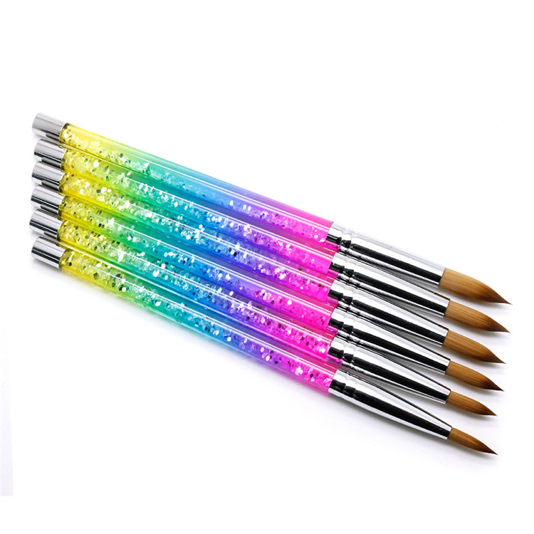 Лидер продаж 2021, набор многофункциональных кистей для ногтей, 100% колонковый цвет