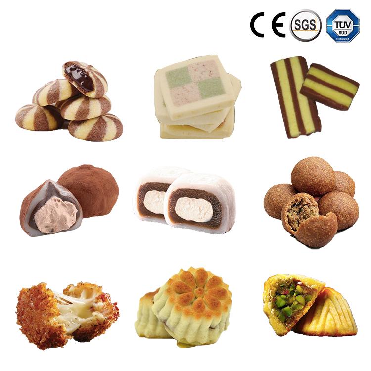 Factory Supplier Cookies Busicuit Production Line Encrusting Machine