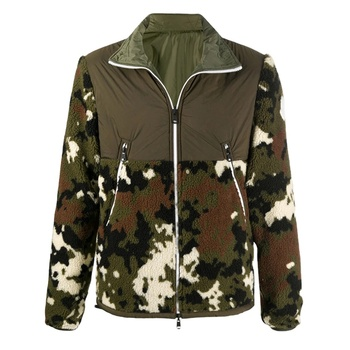 wholesale camo printing designer faux fur custom fleece green reversible camouflage army jacket