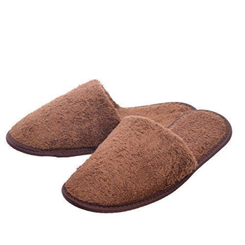 cotton terry hotel slippers closed toe for for men and women