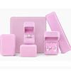 Earring box: 7*7*4cm Pink